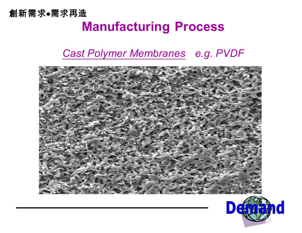 Manufacturing Process Cast Polymer Membranes e.g. PVDF
