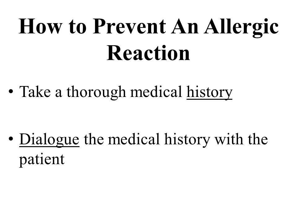 How to Prevent An Allergic Reaction