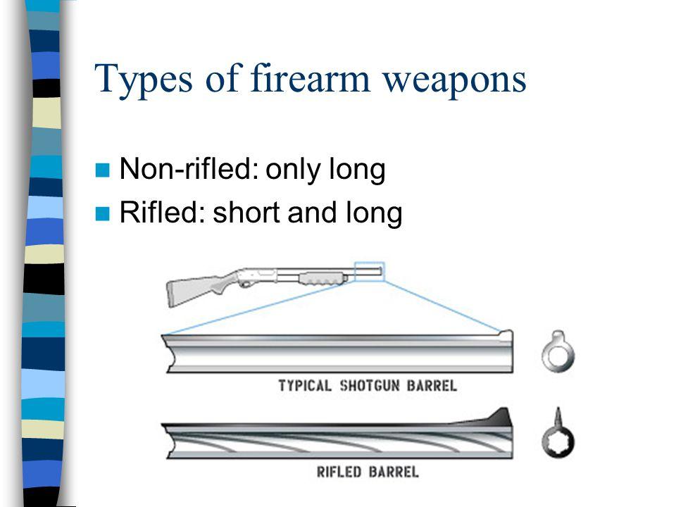Types of firearm weapons