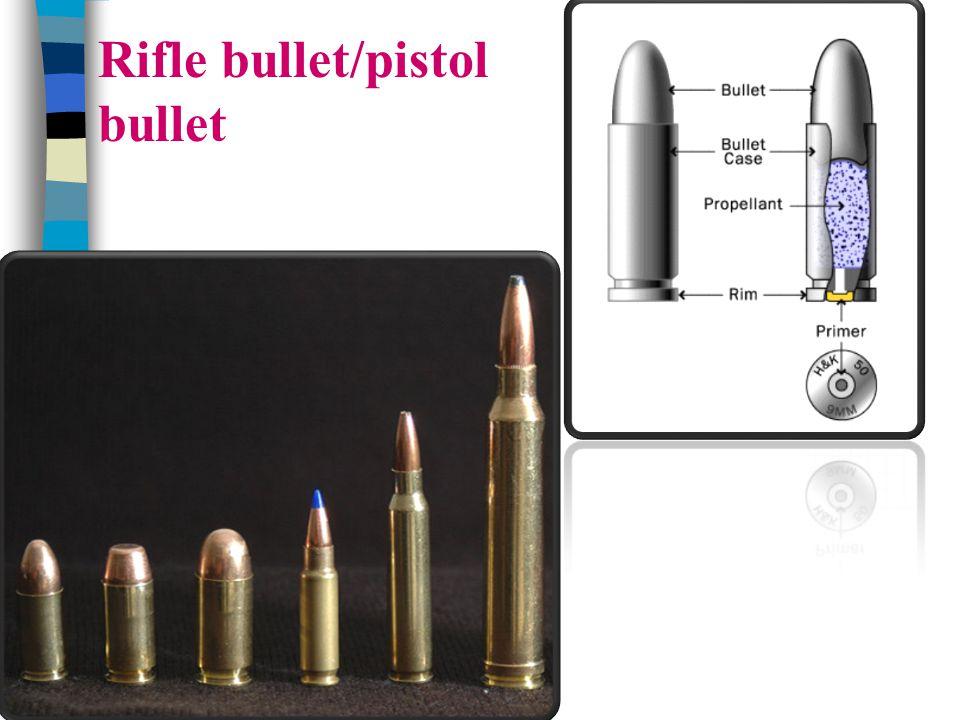 Rifle bullet/pistol bullet