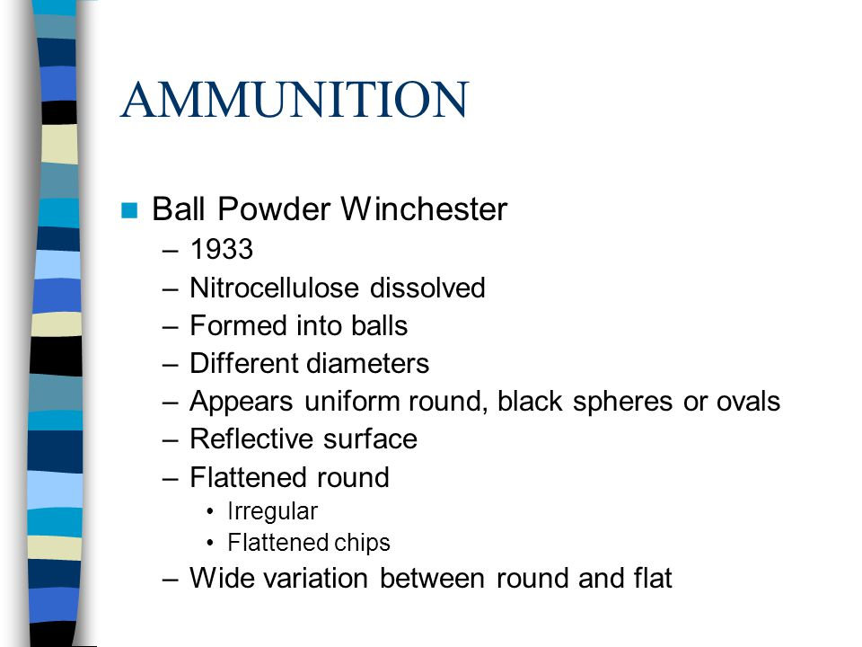 AMMUNITION Ball Powder Winchester 1933 Nitrocellulose dissolved
