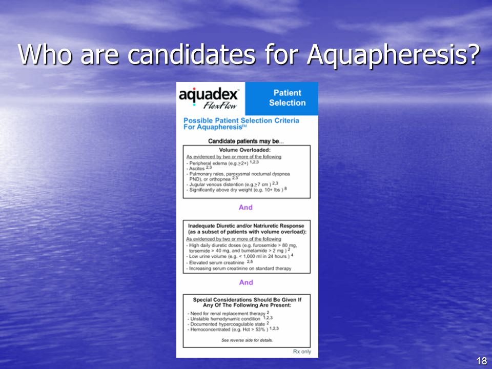 Who are candidates for Aquapheresis