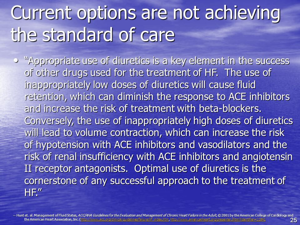 Current options are not achieving the standard of care