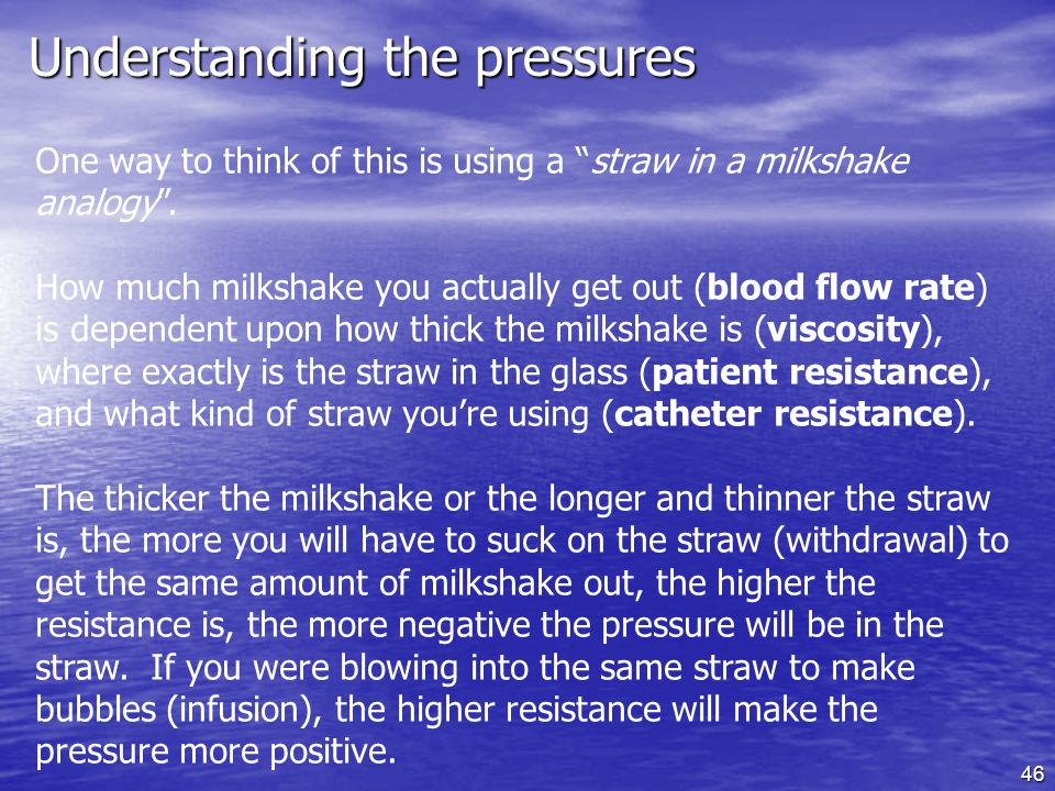 Understanding the pressures