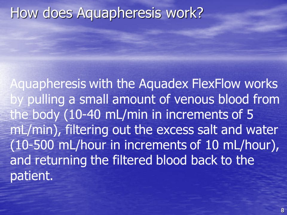 How does Aquapheresis work