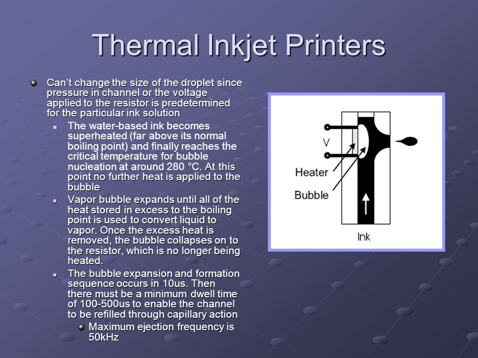 Thermal Inkjet Printers
