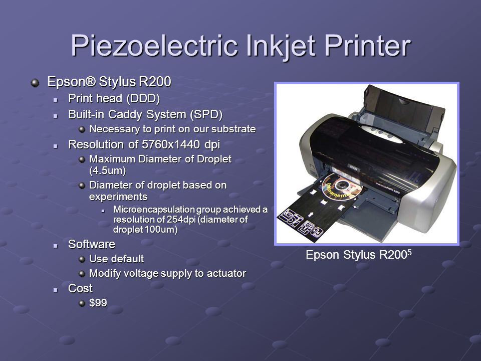 Piezoelectric Inkjet Printer