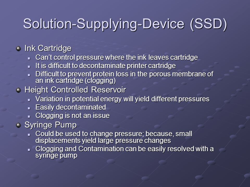 Solution-Supplying-Device (SSD)