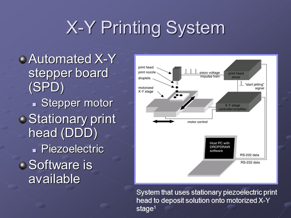 X-Y Printing System Automated X-Y stepper board (SPD)