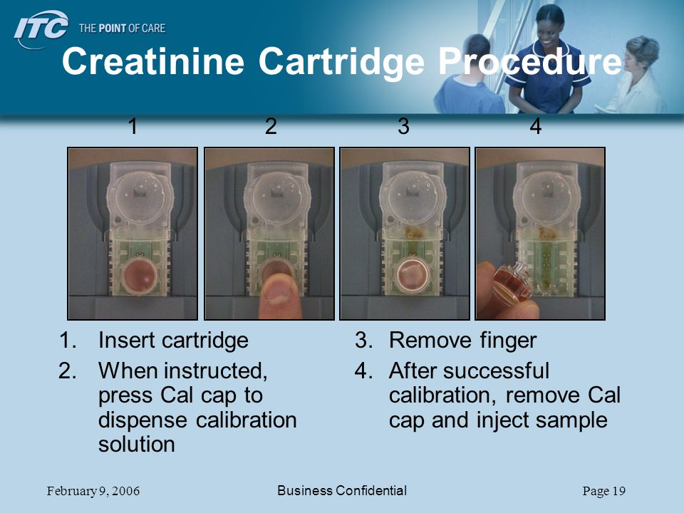Creatinine Cartridge Procedure