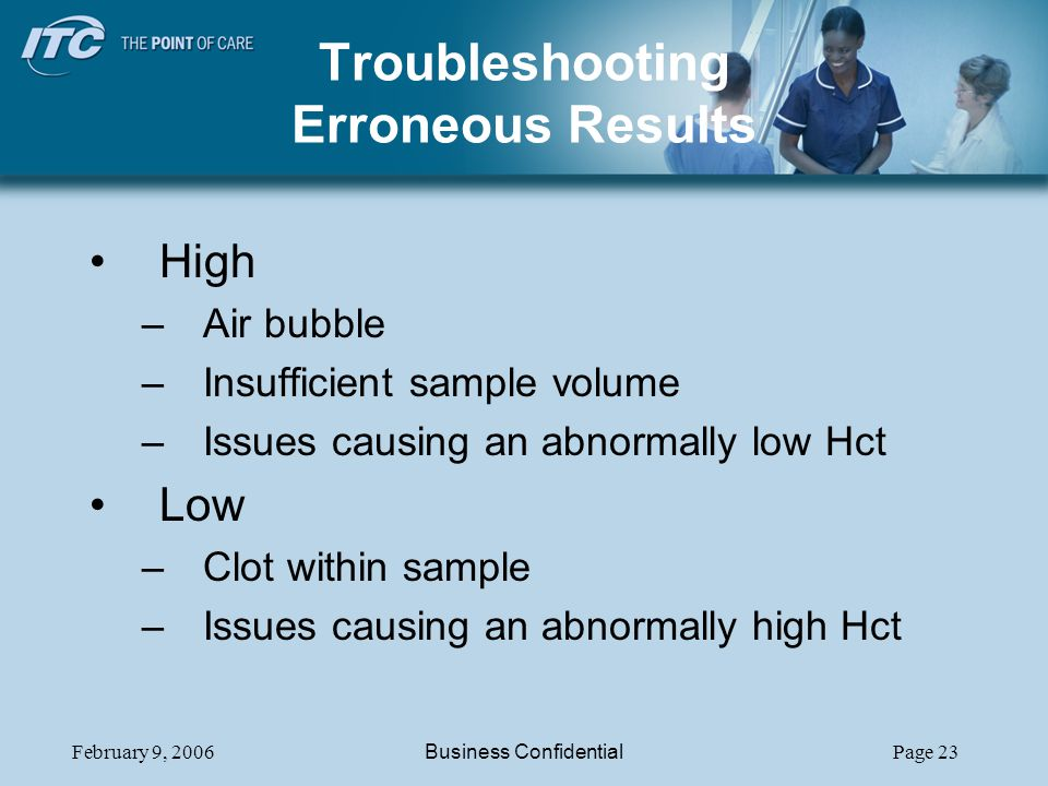 Troubleshooting Erroneous Results