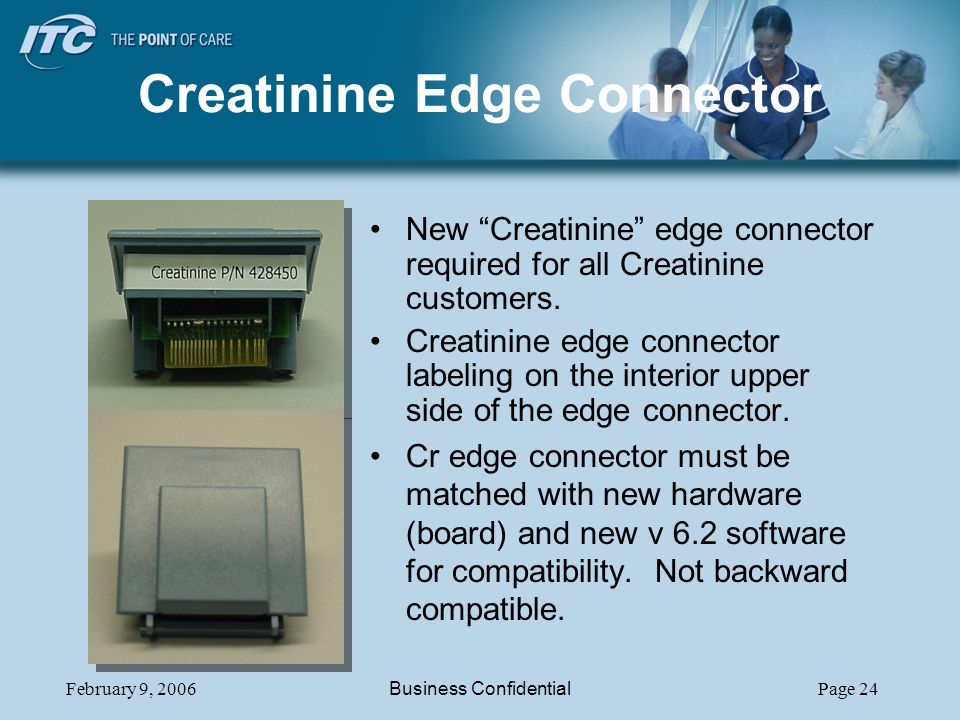 Creatinine Edge Connector