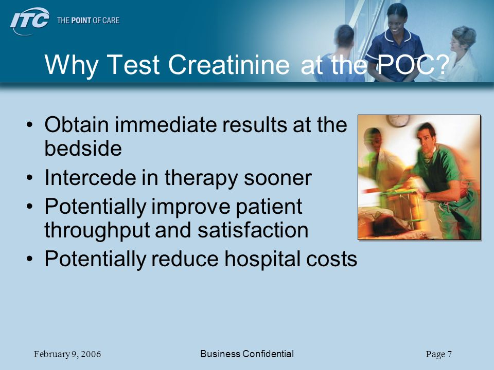 Why Test Creatinine at the POC