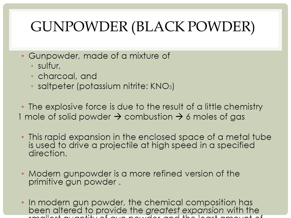 Gunpowder (Black Powder)