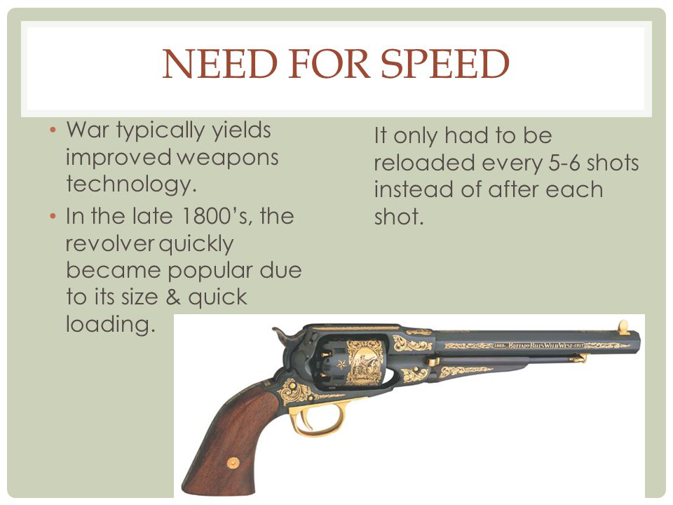 Need for Speed War typically yields improved weapons technology.