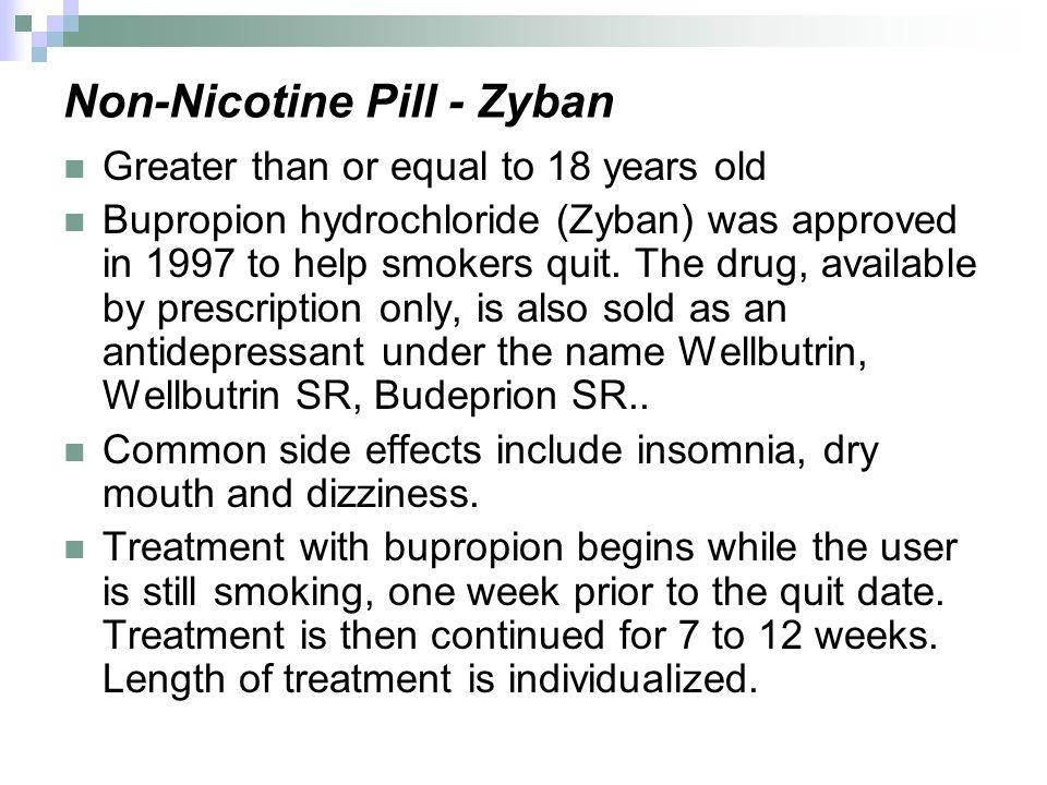 Non-Nicotine Pill - Zyban