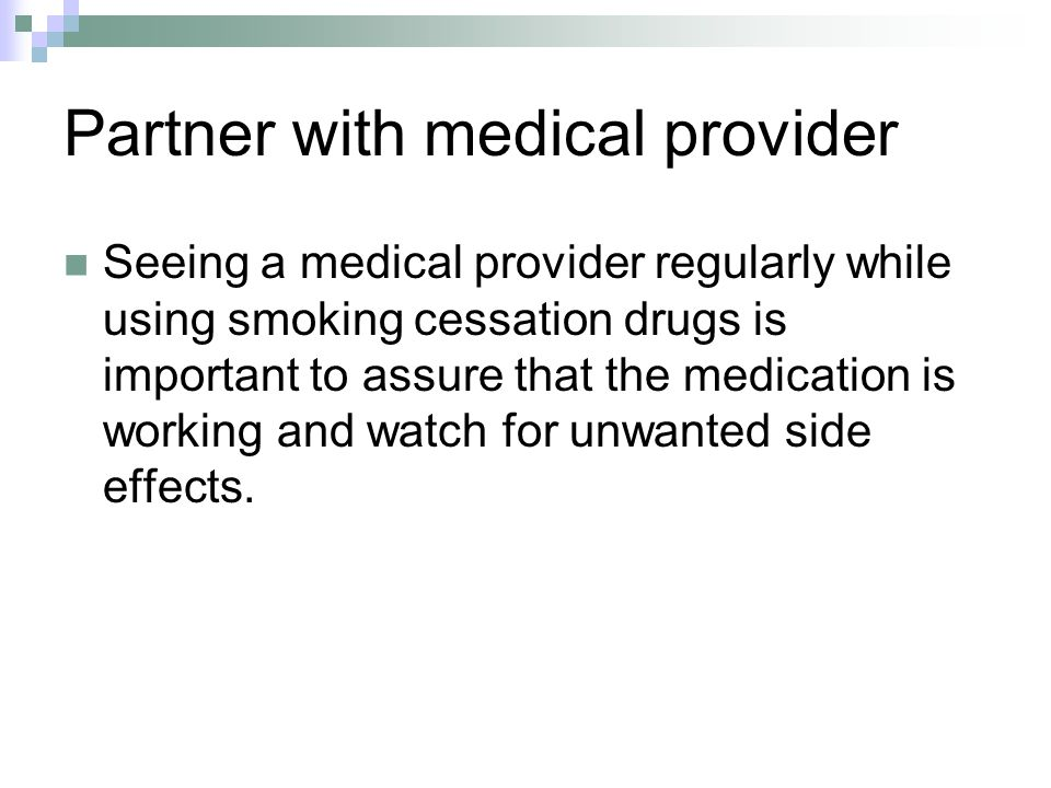 Partner with medical provider
