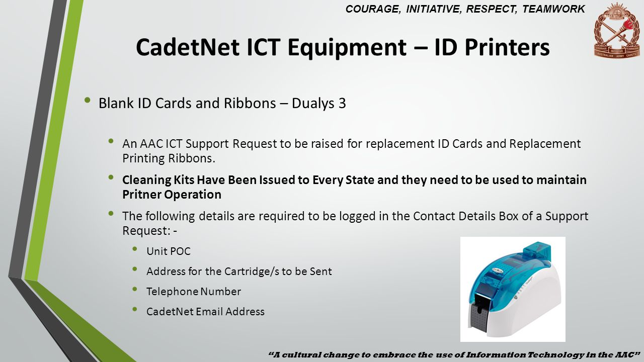 CadetNet ICT Equipment – ID Printers