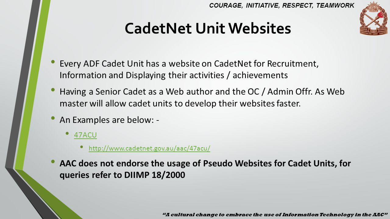 CadetNet Unit Websites