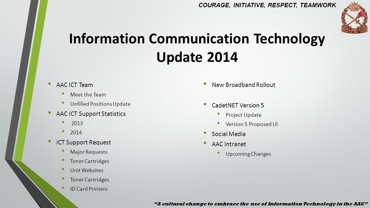 Information Communication Technology Update 2014