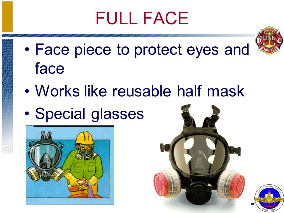 FULL FACE Face piece to protect eyes and face