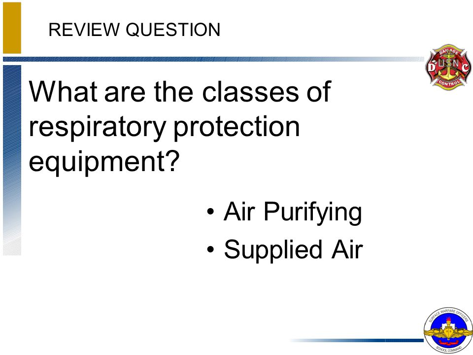 What are the classes of respiratory protection equipment