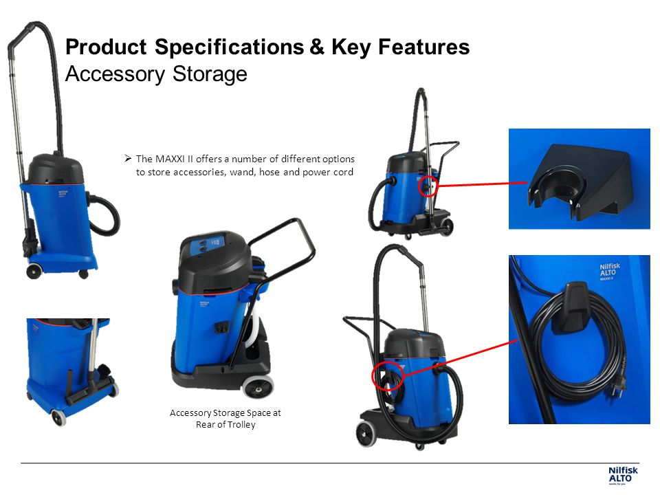 Product Specifications & Key Features Accessory Storage