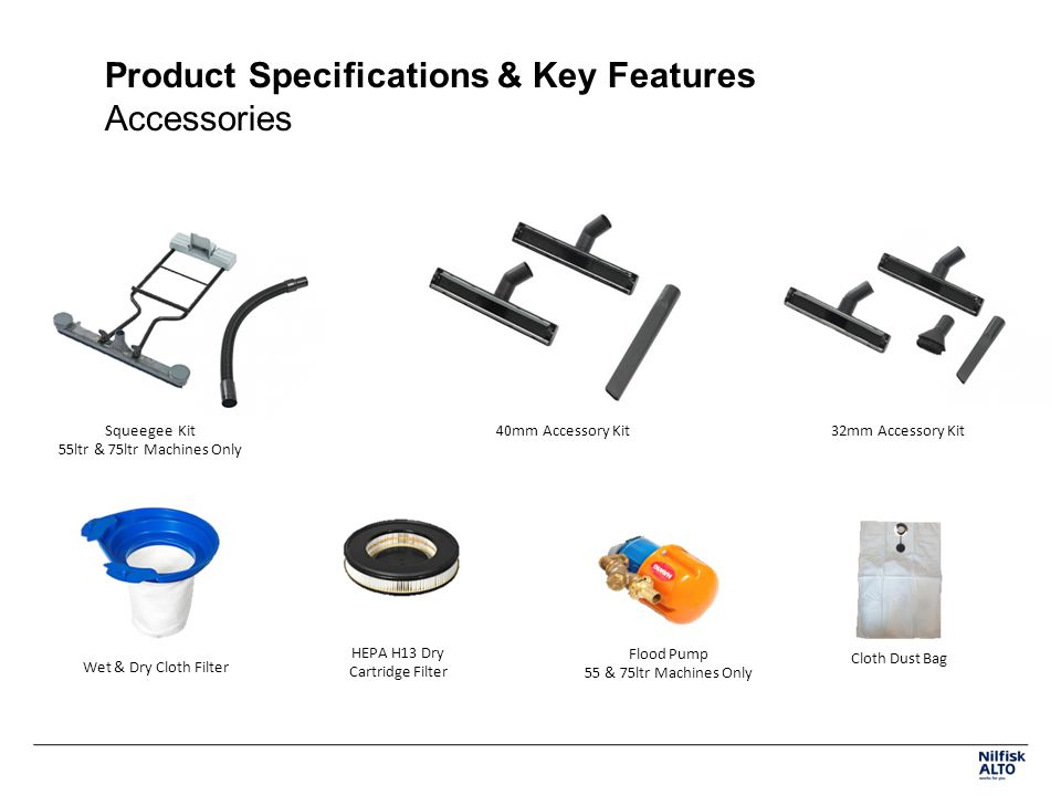 Product Specifications & Key Features Accessories