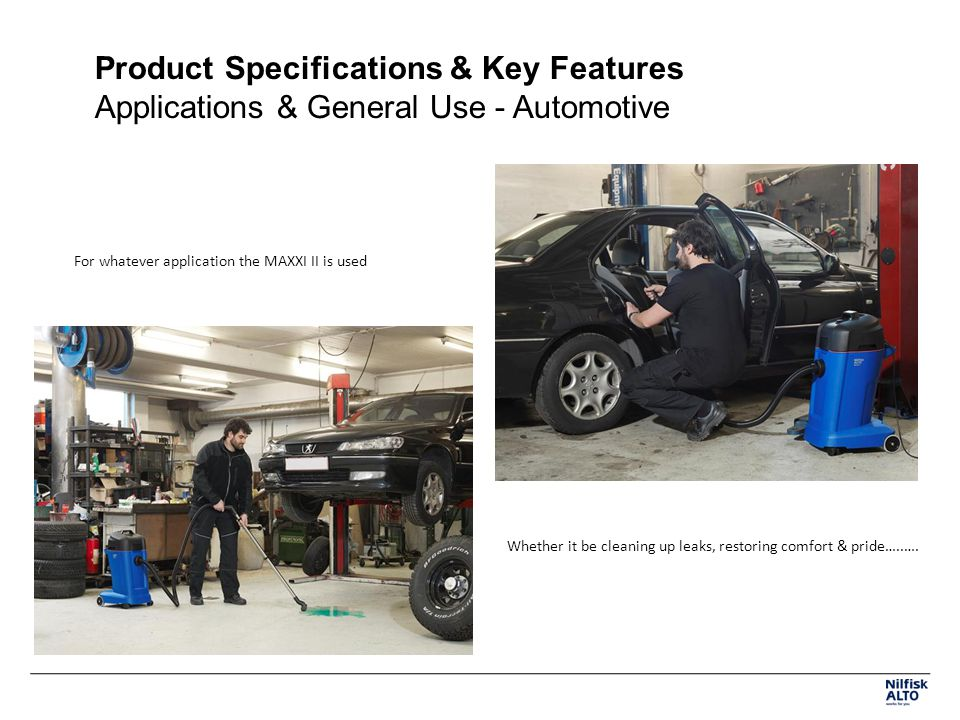 Product Specifications & Key Features Applications & General Use - Automotive