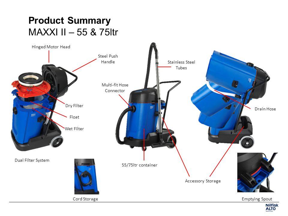 Product Summary MAXXI II – 55 & 75ltr