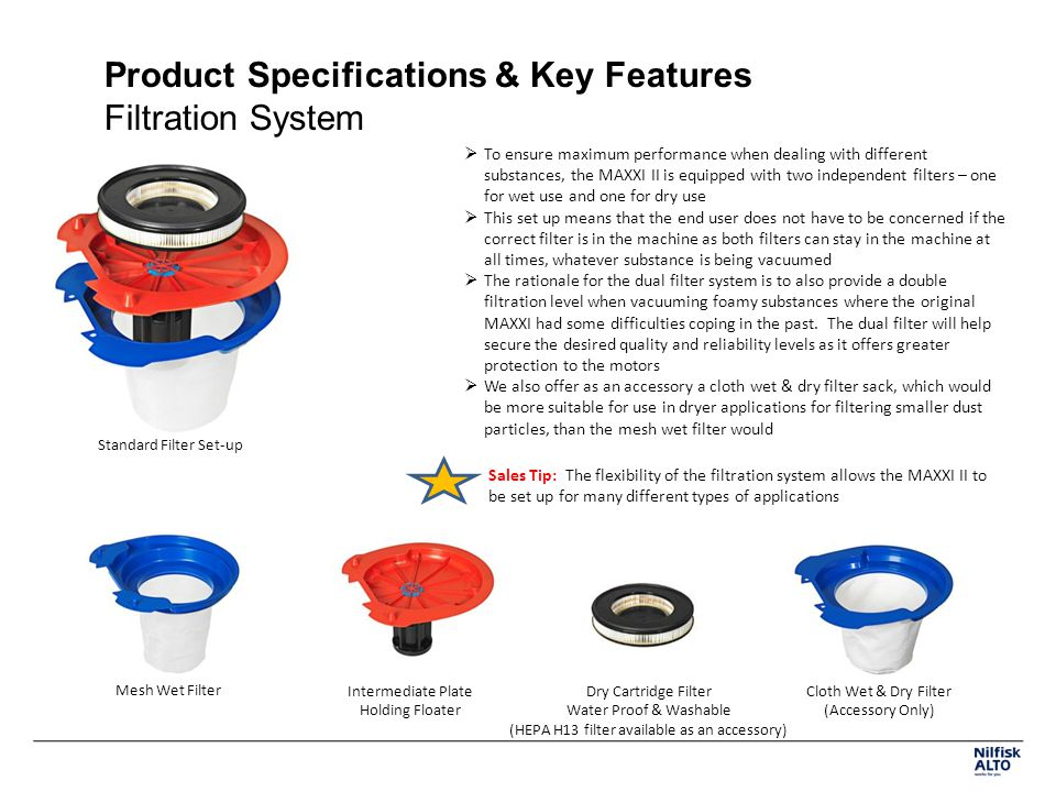 Product Specifications & Key Features Filtration System