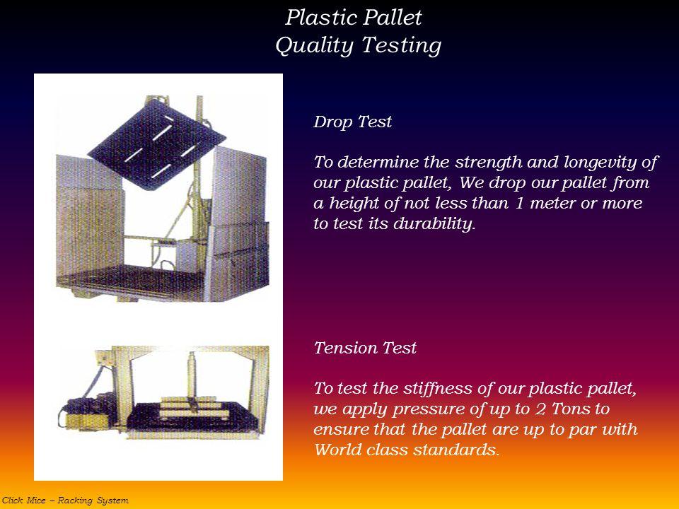 Plastic Pallet Quality Testing Drop Test