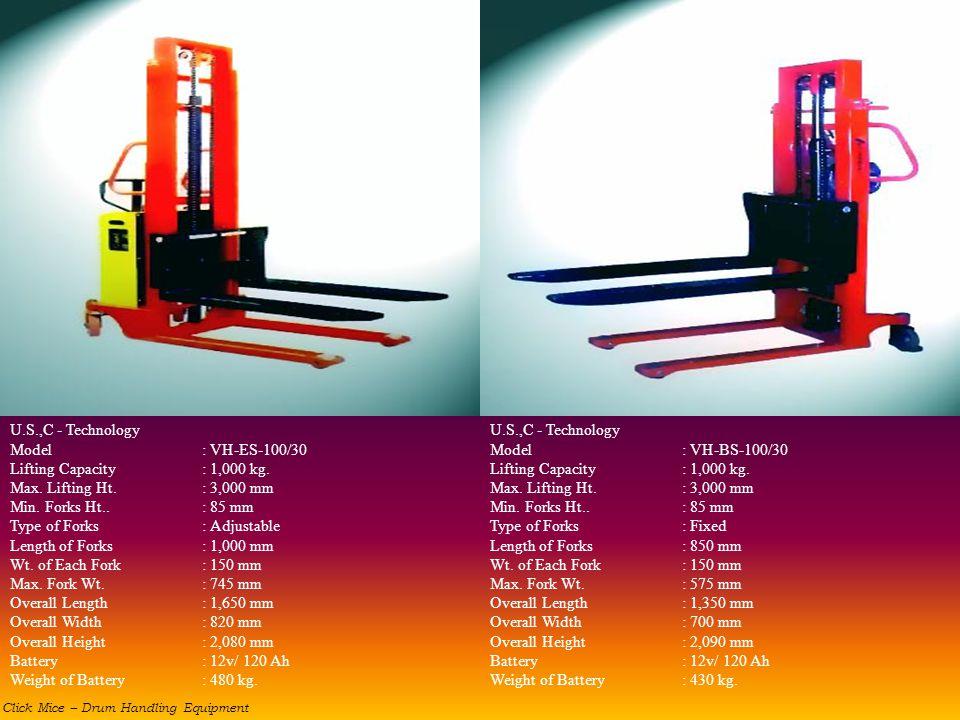 Type of Forks : Adjustable Length of Forks : 1,000 mm