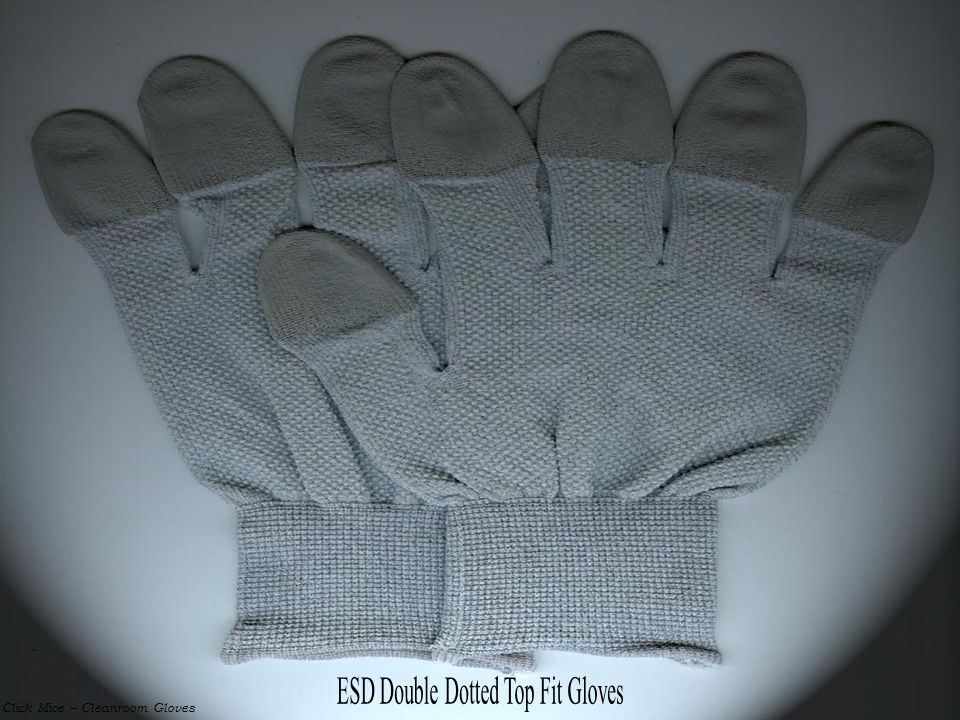 ESD Double Dotted Top Fit Gloves