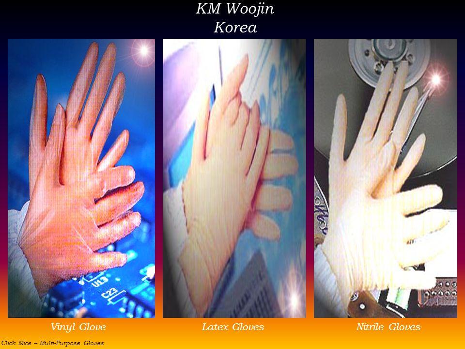 KM Woojin Korea Vinyl Glove Latex Gloves Nitrile Gloves