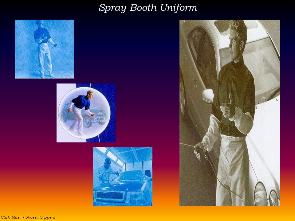 Spray Booth Uniform Click Mice - Shoes, Slippers