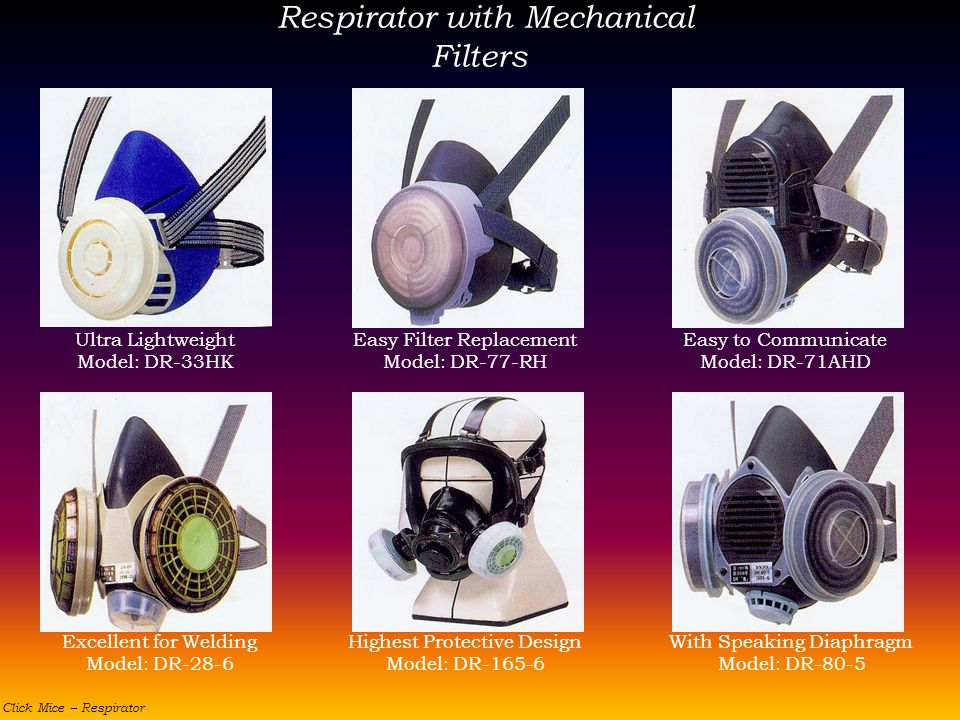 Respirator with Mechanical Filters