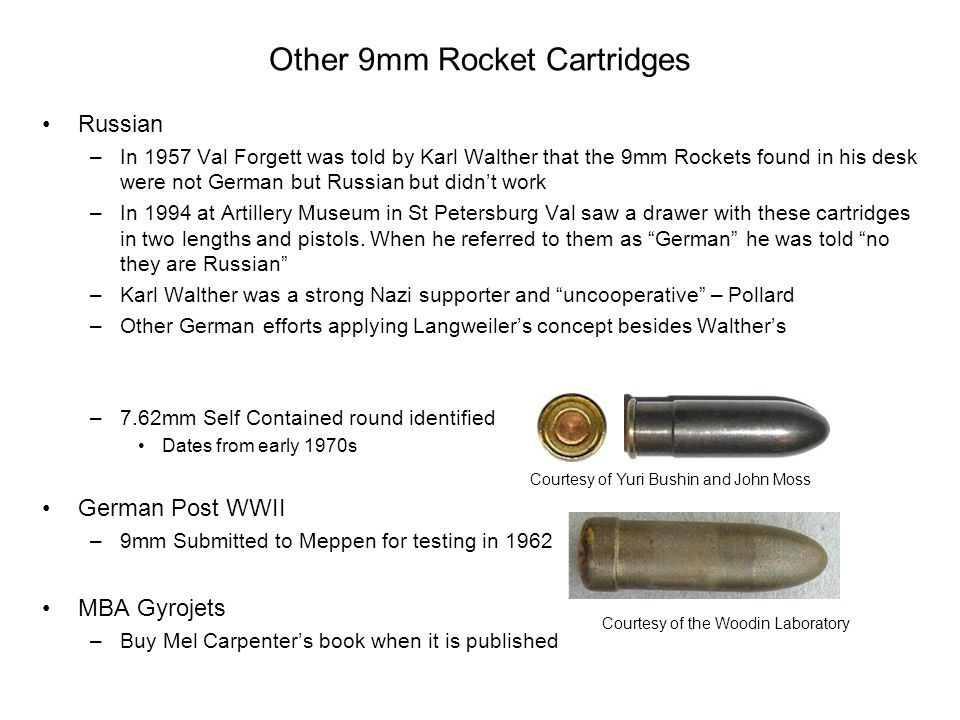 Other 9mm Rocket Cartridges