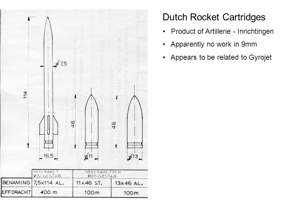 Dutch Rocket Cartridges