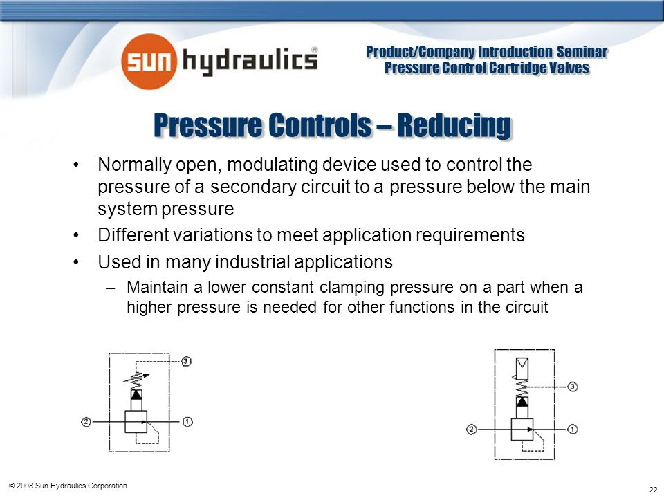 Pressure Controls – Reducing