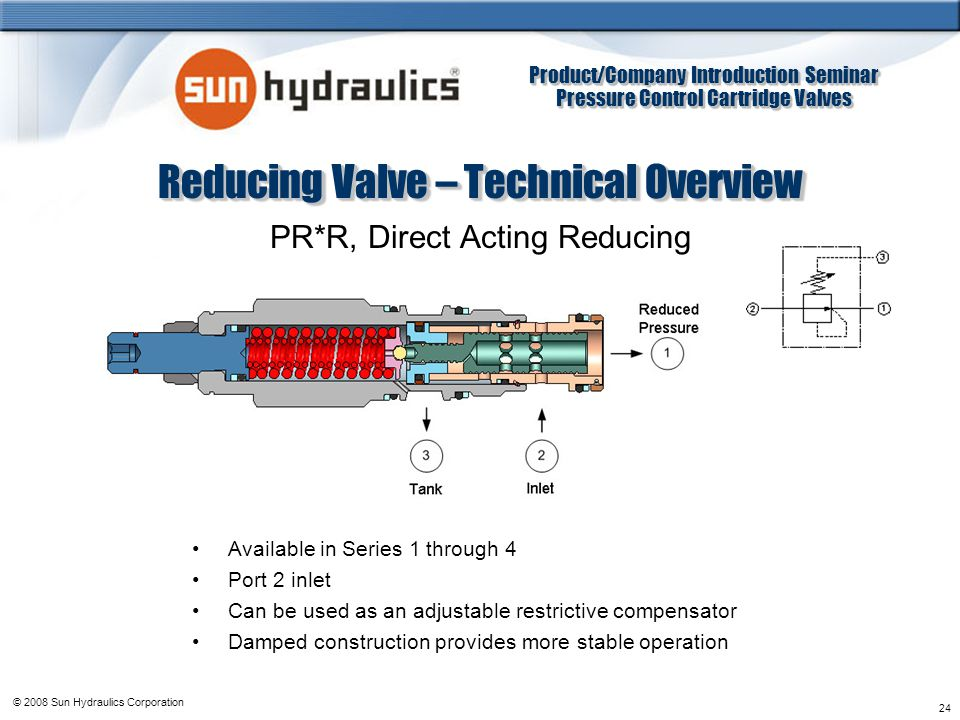 Reducing Valve – Technical Overview