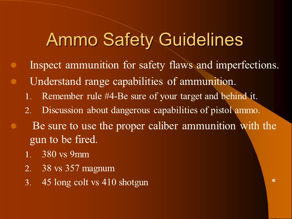 Ammo Safety Guidelines