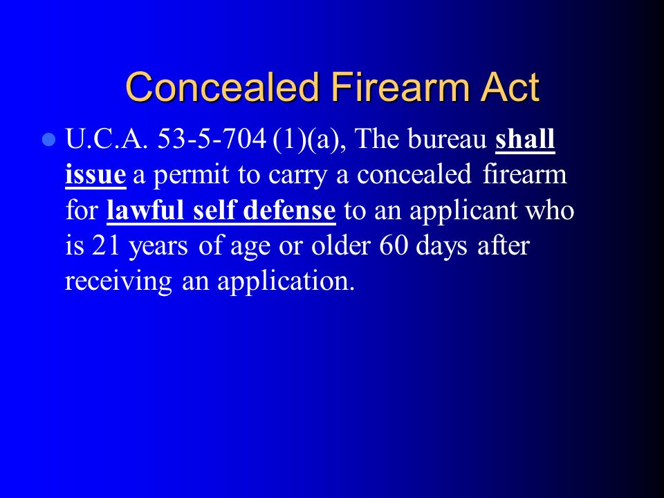 Concealed Firearm Act