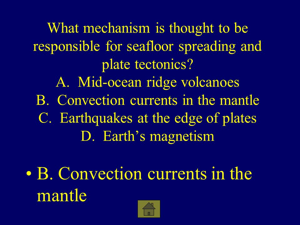 B. Convection currents in the mantle