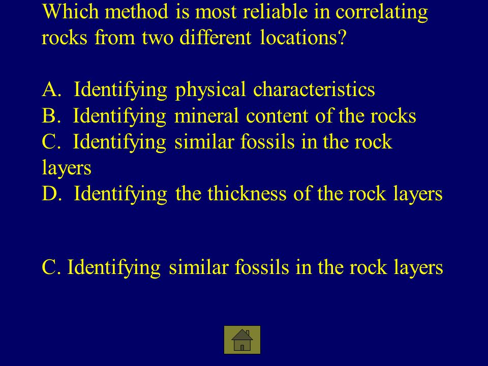 C. Identifying similar fossils in the rock layers