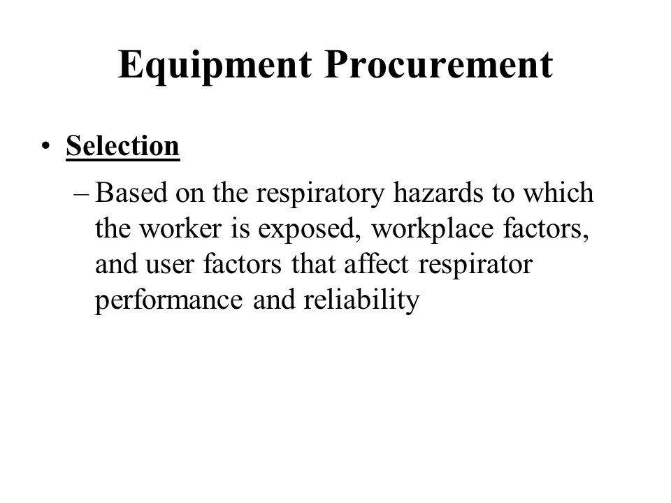 Equipment Procurement