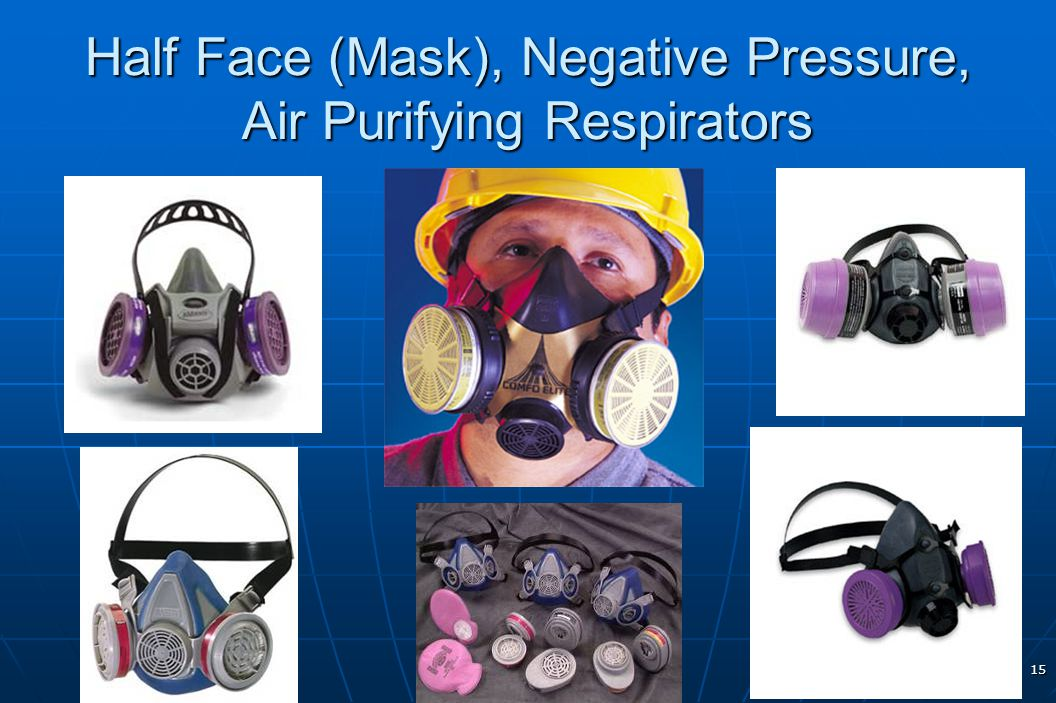 Half Face (Mask), Negative Pressure, Air Purifying Respirators