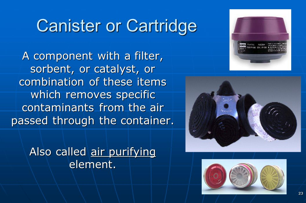 Also called air purifying element.