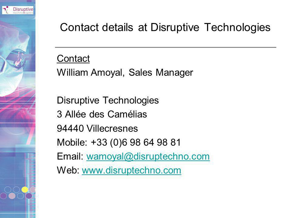 Contact details at Disruptive Technologies