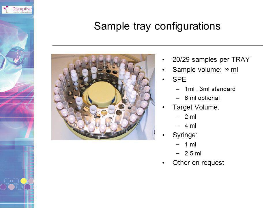 Sample tray configurations